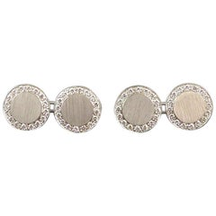 Modern Art Deco Style 1.0 Carat Diamond and White Gold Cufflinks