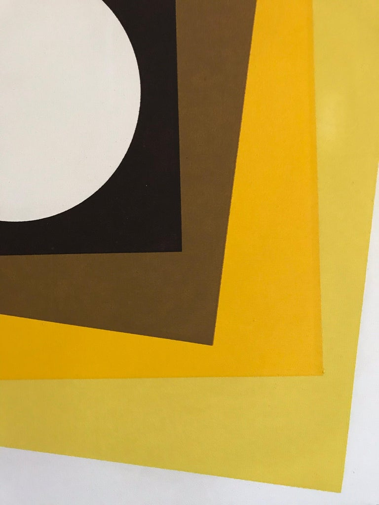 Mid-Century Modern Geometric Hard-Edge Painting, 20th Century For Sale