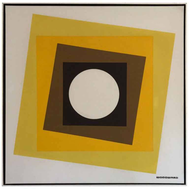Geometric Hard-Edge Painting, 20th Century For Sale