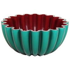 Modern Art Glass Bowl in Cased Glass