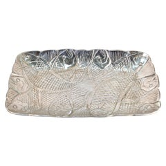 Modern Arthur Court Style Aluminum Serving Tray with Fish Theme
