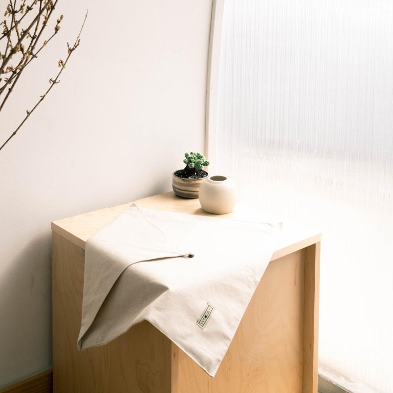 AAKAR Color Block Silk Pillow In Indigo Gold  For Sale 5