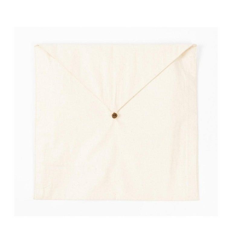 AAKAR Color Block Silk Pillow In Indigo Gold  For Sale 6