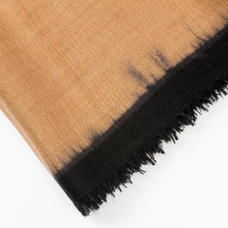 Modern ARIA BLACK Cashmere  Scarf / Wrap  For Sale