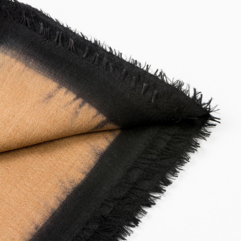 Nepalese ARIA BLACK Cashmere  Scarf / Wrap  For Sale