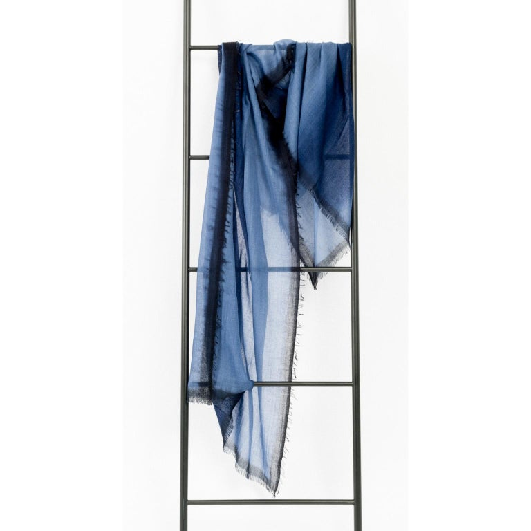 Custom design by Studio Variously, ARIA INDIGO Scarf or Shawl is handwoven by master weavers in Nepal and dyed entirely with earth-friendly dyes. A sustainable design brand based out of Michigan, Studio Variously exclusively collaborates with