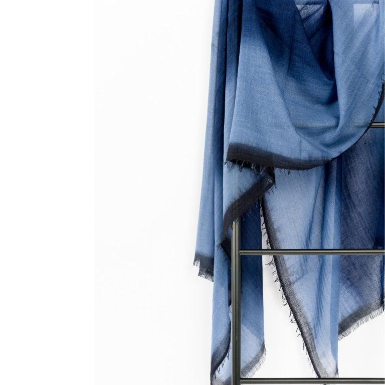Modern Handloom ARIA INDIGO Ombre Scarf / Shawl In Cashmere & Merino For Sale