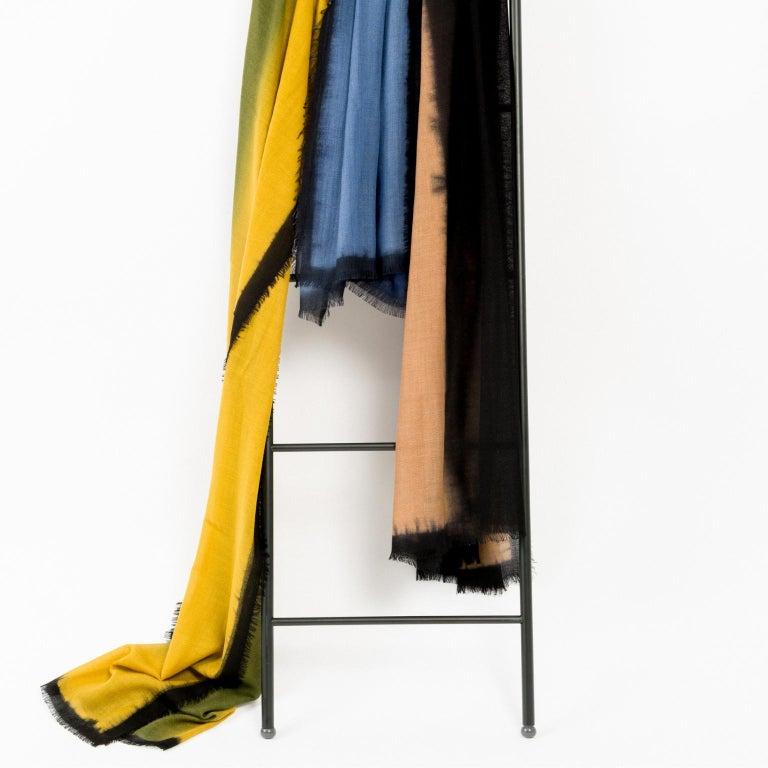 Handloom ARIA INDIGO Ombre Scarf / Shawl In Cashmere & Merino For Sale 1