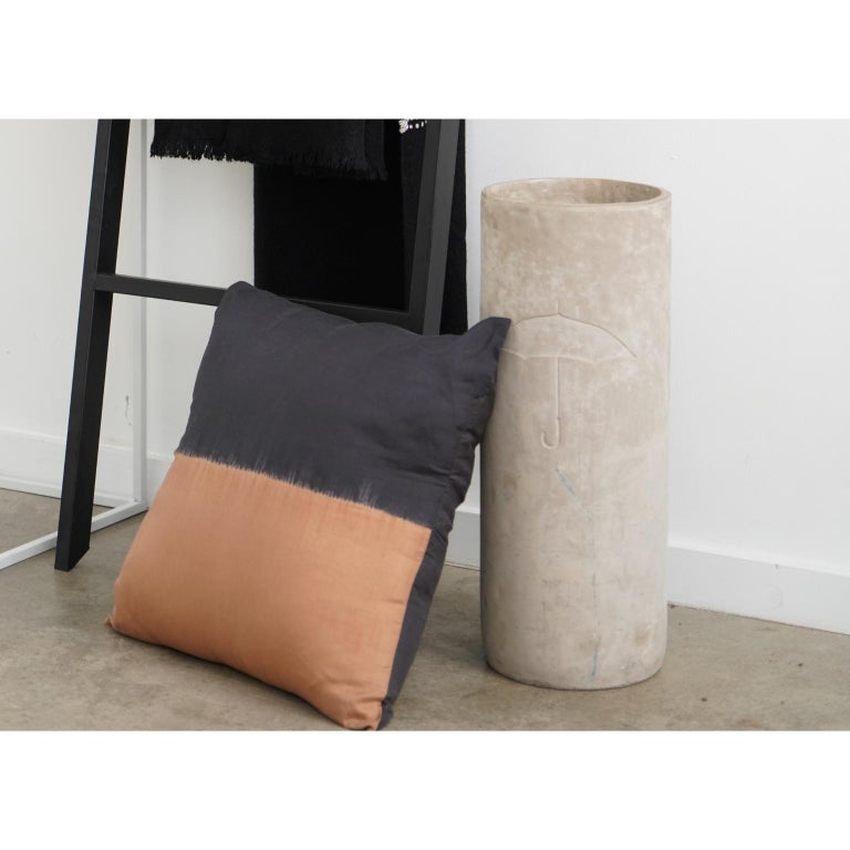 KALA Silk Color Block Pillow in Black Gold  For Sale 1