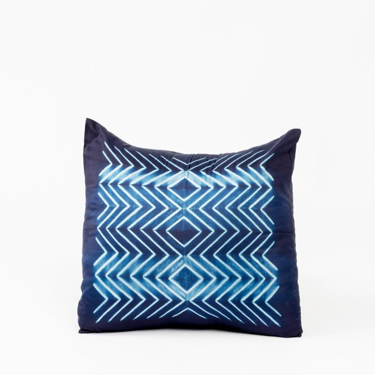 Custom designed by Studio Variously,NAAMI Indigo Pillow is handmade by master artisans in India. A sustainable design brand based out of Michigan, Studio Variously exclusively collaborates with artisan communities to restore and revive ancient