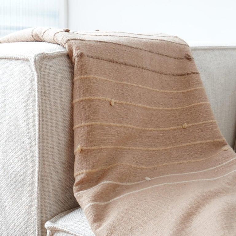TERRA Throw /  Blanket In Soft Merino For Sale 2