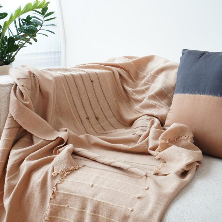 Yarn TERRA Throw /  Blanket In Soft Merino For Sale