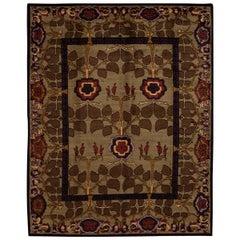 21st Century Modern Arts & Crafts Tibetan Wool Rug