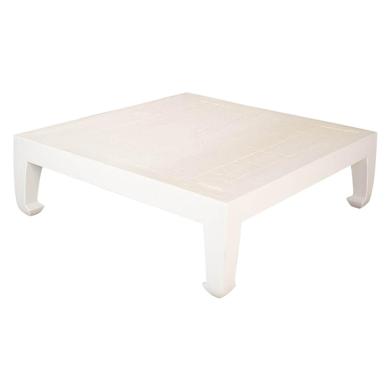 Modern Asian-Style White Coffee Table