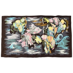 Modern Aubusson Art Deco Tapestry, Georges Deveche