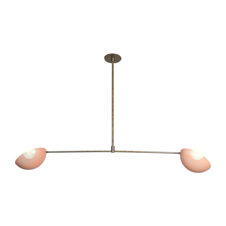 Modern Axial Pendant in Bronze and Pink Enamel by Blueprint Lighting, 2019 For Sale