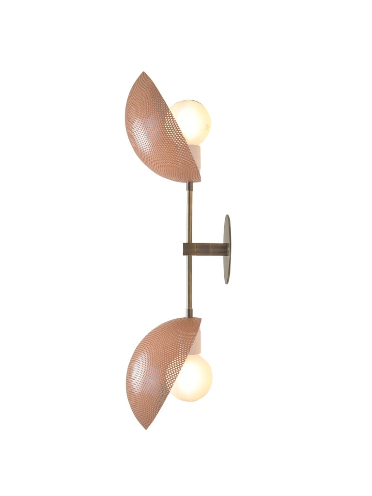 Modern Axial Wall Sconce in Bronze and Pink Enamel by Blueprint Lighting, 2019 In Excellent Condition For Sale In New York, NY
