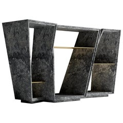 "Modern Azul Aran Granite Console Table by Grzegorz Majka Called ""Elementary"""