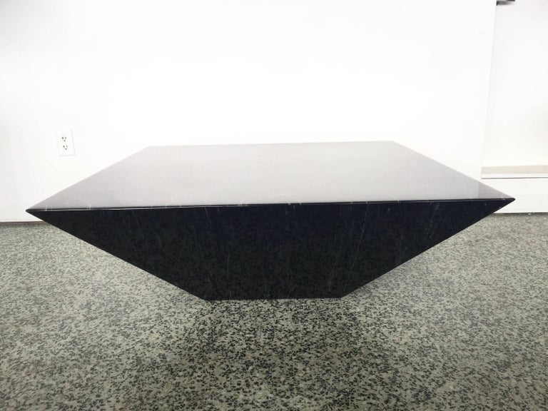 Modern Postmodern Contemporary Triangle Pyramid Coffee Table For Sale