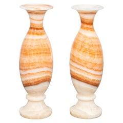 Modern Banded Onyx Floor Vases