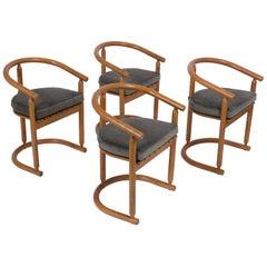 Modern Barrel Back Dining Chairs