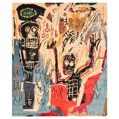 Modern Basquiat Inspired Art Rug. 8 ft 4 in x 10 ft