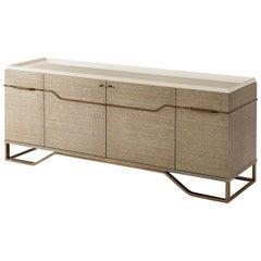 Modern Beachwood Oak Cabinet