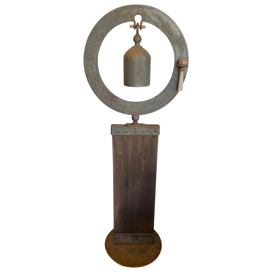 Modern Bell in Ring Garden Sculpture