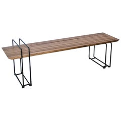 Modern Bench in Iron and Solid Wood