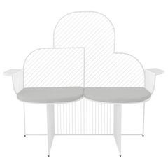 Modern Bench, Wire Cloud Bench by Bend Goods, White