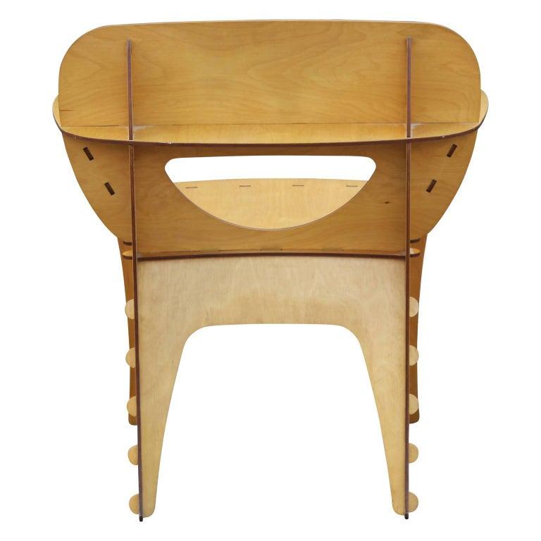 Modern Birch Plywood Design Puzzle Lounge Chair by David Kawecki For Sale 1