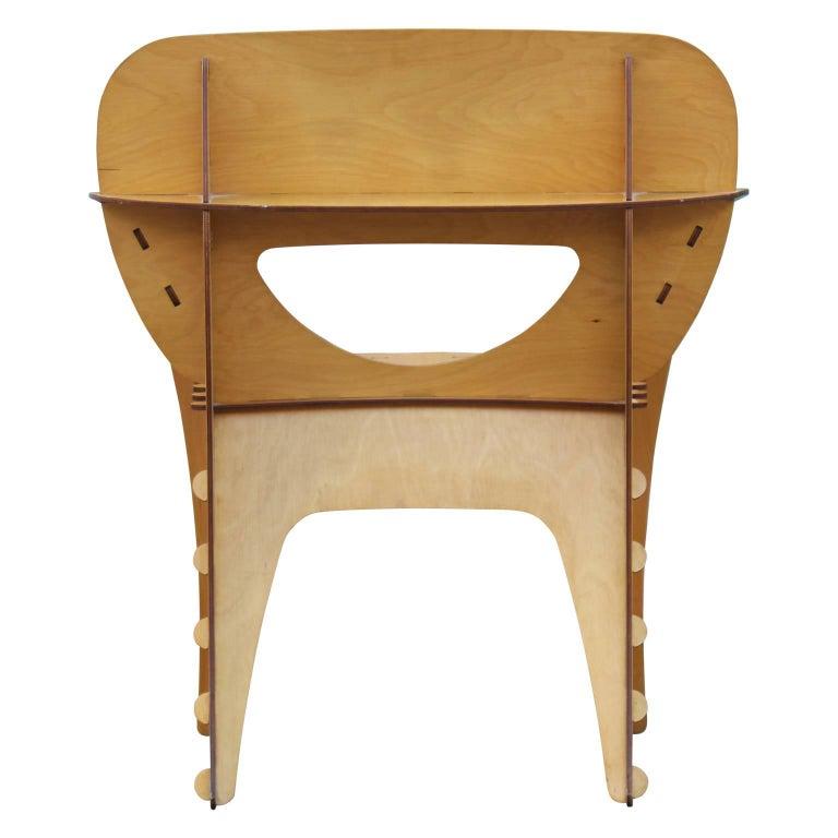 Modern Birch Plywood Design Puzzle Lounge Chair by David Kawecki For Sale 2