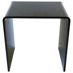 Modern Black Acrylic Waterfall Table