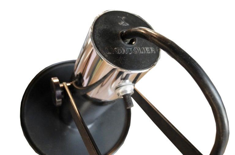 Modern Black and Chrome Floor Lamp by Lightoleir For Sale 2