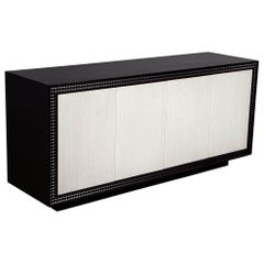 Modern Black and White Buffet Sideboard