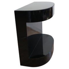 Modern Black Demi Lune Table