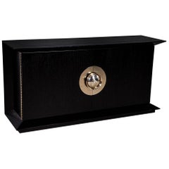 Modern Black Flared Sideboard Buffet