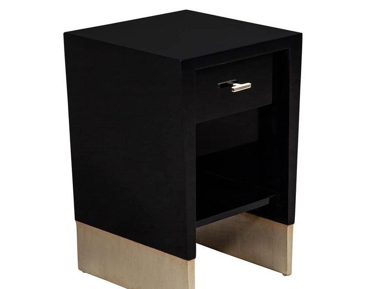 Modern Black Lacquer End Table Rachmaninov by Jacques Garcia Baker For Sale 2