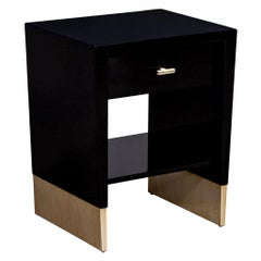 Modern Black Lacquer End Table Rachmaninov by Jacques Garcia Baker