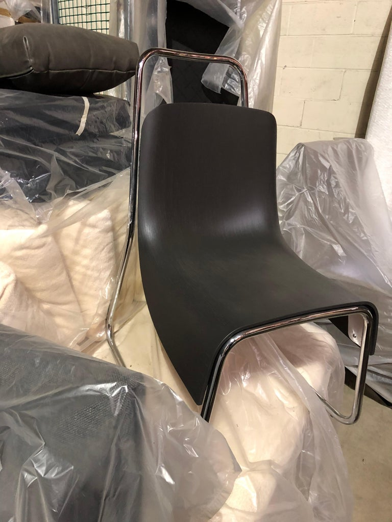 Contemporary Modern Black Baleri Littlebig Armless Chair by Jeff Miller For Sale