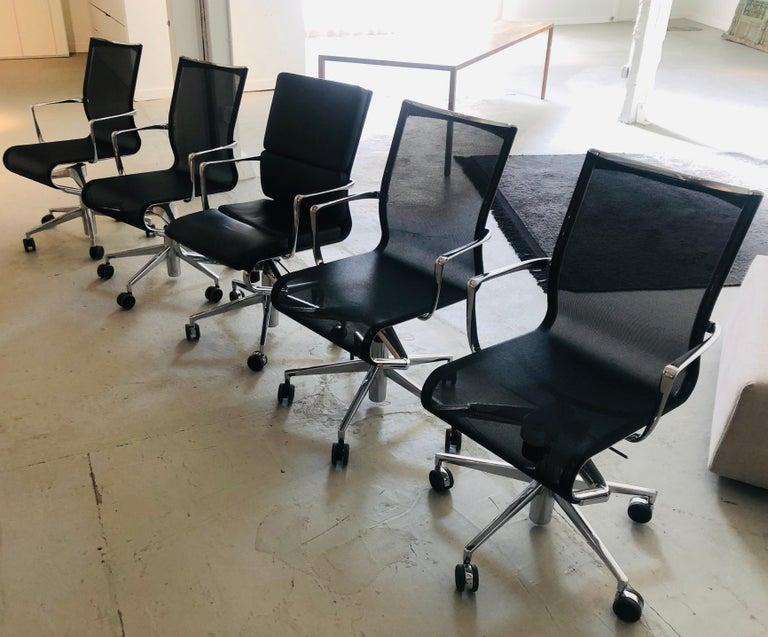 Alberto Meda Design.Modern Black Office Chair Rolling Swivel With Arms By Alberto Meda Alias