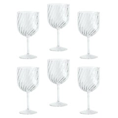 "Modern Blown Glass ""Dafne Glass"" x6"