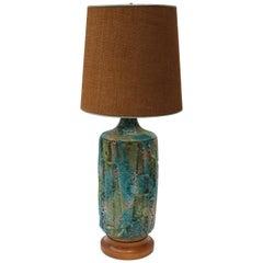 Modern Blue Ceramic Lamp