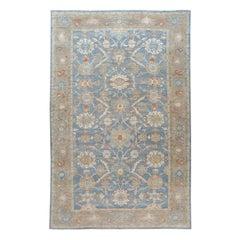 Modern Blue Sultanabad Handmade Oversize Wool Rug