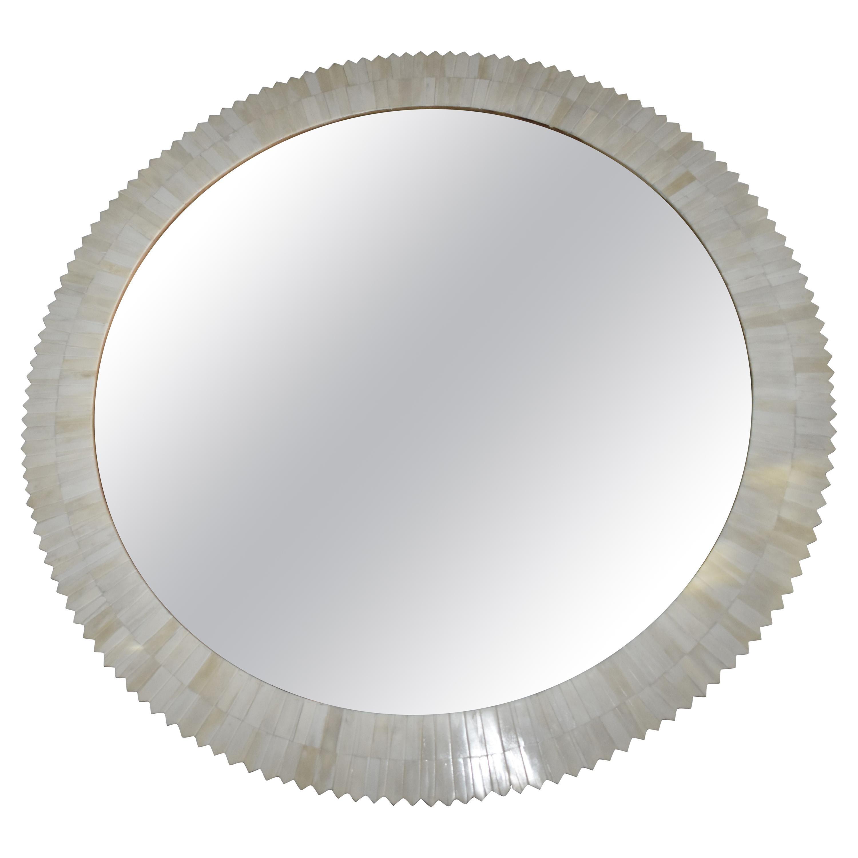Modern Bone Round Mirror