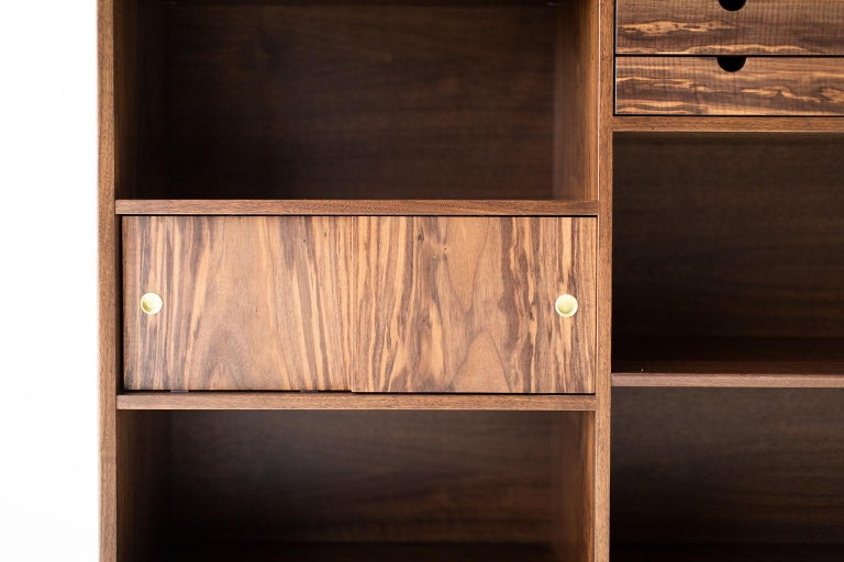 American Modern Bookcase Cabinet The Peabody Collection For Sale