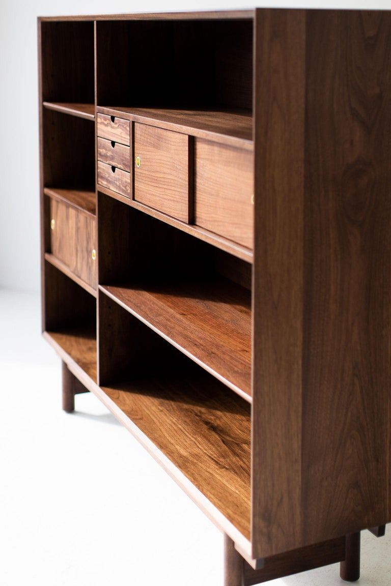 Contemporary Modern Bookcase Cabinet The Peabody Collection For Sale