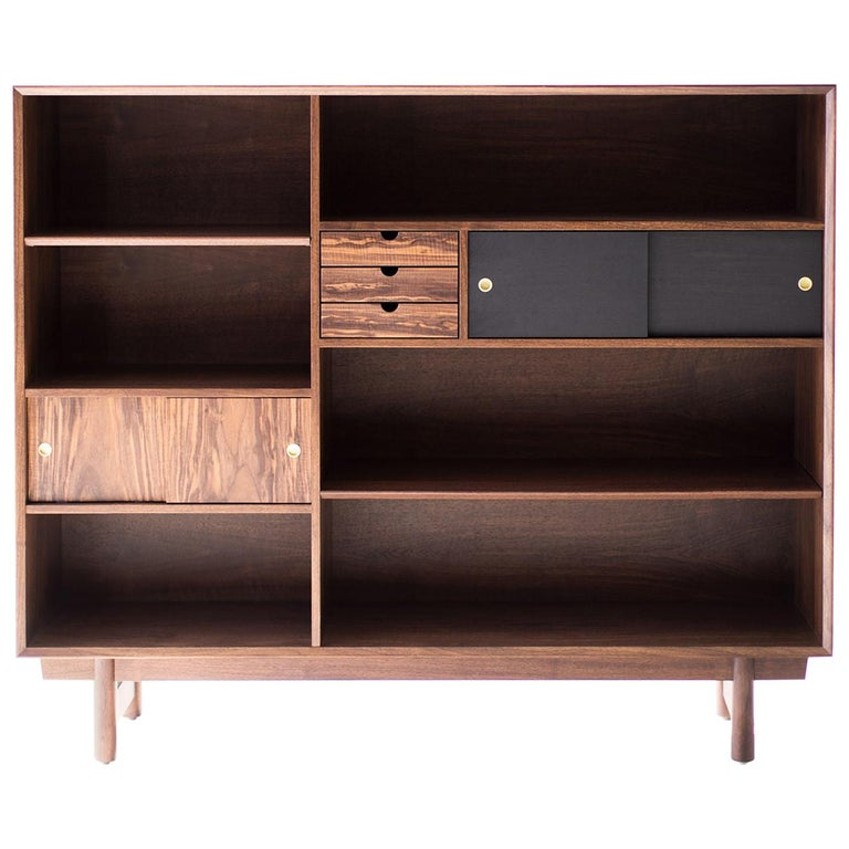 Modern Bookcase Cabinet The Peabody Collection For Sale