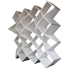 Modern Bookcase in Pvc Foam and Extruded Aluminum, X.me 4x4 #02