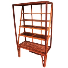 Modern Bookcase, Brazilian Hardwood the 'Armonny' by Deodato